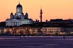 Finlandia: Skyline de Helsínquia Imagem de Stock Royalty Free