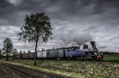 finlandia Tren viejo del vapor Imagen de archivo