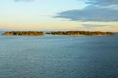 Finlandia Wyspy otacza wybrzeże są piękne z a zdjęcie stock