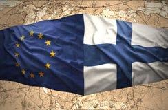 Finlandia y unión europea stock de ilustración