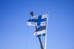 finlandssvensk flagga Royaltyfria Bilder