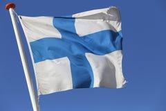 finlandssvensk flagga Royaltyfri Bild