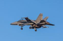 Finlandssvensk jaktflygplan för bålgeting F-18 Arkivbilder