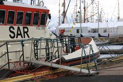 Finlandssvensk Jenny Wihuri för räddningsaktionfartyg near hed fotografering för bildbyråer