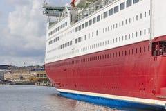 Finlandssvensk kryssning på den Helsingfors hamnen Lopp turismbakgrund Arkivfoton
