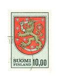 finlandssvensk national för emblem arkivfoton