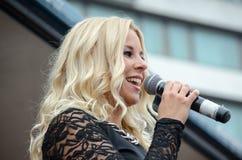 Finlandssvensk sångare Royaltyfria Foton
