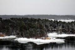 Finlandssvensk skärgård royaltyfria foton