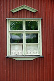 finlandssvenskt fönster arkivbild
