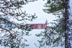 finlandssvenskt hus Royaltyfria Bilder