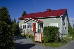 finlandssvenskt hus royaltyfria foton
