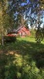 finlandssvenskt hus royaltyfri bild