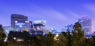 Finlay Park. View of downtown Columbia, South Carolina from FInlay Park Stock Photos