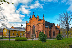 Finlayson Church in Tampere. The Finlayson Church is a church representing the Gothic Revival Architecture located in Tampere, Finland, in the Finlayson Stock Photo