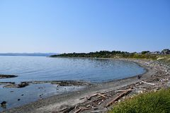 Finlayson Point view from Clover point. stock image