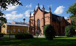 Finlaysonin kirkko, Tammerfors Finland Royaltyfri Bild