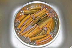 Finless eel section ready for cooking Stock Image