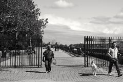 Finley park promenade Royalty Free Stock Images