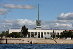 Finlyandskiy火车站在圣彼德堡,俄罗斯 图库摄影