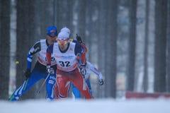 Finn Haagen Krogh - cross country. Finn Haagen Krogh from Norway in men 15 km race within cross country world cup held on Nove Mesto na Morave on 23.1.2015 Stock Images