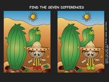 Finn skillnaden Arkivbild