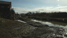 Finn Slough Afternoon, Richmond, British Columbia stock footage