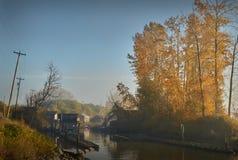 Finn Slough Autumn, Richmond immagini stock