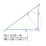 Finna benen av en höger triangel Arkivbild