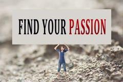 Finna din passion arkivfoton
