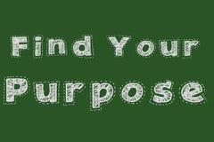 Finna ditt för svart tavlatypografi för avsikt motivational begrepp för webbsida stock illustrationer