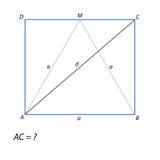 Finna en diagonal rektangel ABCD Royaltyfria Foton