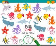 Finna ett djur av en snäll lek för barn Arkivbilder