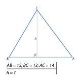 Finna höjden av triangeln Royaltyfri Bild