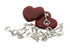 finna hjärta key mitt rakt till Royaltyfria Bilder
