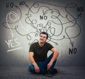 Finna korrekt svar till frågor, jaet eller inget svar royaltyfria bilder