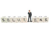 finna lösningen arkivbild