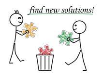 Finna nya lösningar Arkivbild
