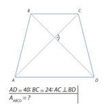 Finna området av en trapetsoid ABCD Arkivbilder