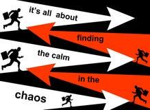 Finna stillhet i kaoset stock illustrationer