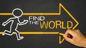 finna världen arkivfoton