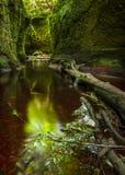 Finnach幽谷,恶魔讲坛 苏格兰 英国 图库摄影