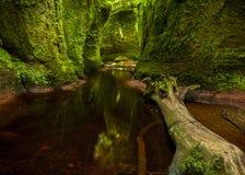 Finnach幽谷,恶魔讲坛 苏格兰 英国 库存图片