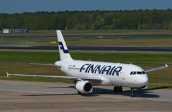Finnair Airbus A320 à l'aéroport de Berlin Tegel Photographie stock