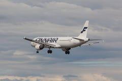 Finnair - Airbus A321 Imágenes de archivo libres de regalías