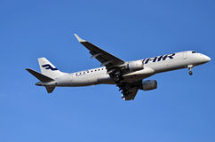 Finnair airliner Stock Photo