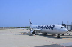 Finnair airplane Stock Image