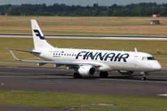 Finnair Embraer 190 免版税库存图片