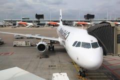 Finnair flygbuss Royaltyfria Bilder