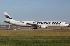 Finnair flygbuss A330 Royaltyfria Foton