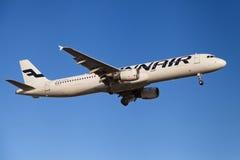 Finnair flygbuss A321 Arkivfoton